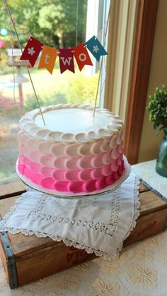 cute ombre cake