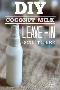 This coconut milk leave-in conditioner softens and conditions without weighing hair down, and only takes minutes to make. Just spritz it on clean, damp hair and you're good to go!
