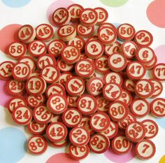 Tumble of vintage wooden game pieces with bold red numbers. There are 78 pieces and each is of an inch across. These have some light natural aging and wear. Vintage Games, Vintage Ideas, Vintage Style, Vintage Fashion, New Classroom, Classroom Themes, Vintage Graphic, Game Pieces, Red Accents
