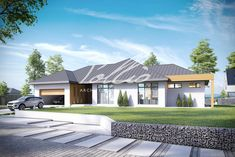 X12 Эксклюзивный проект одноэтажного дома фото 2 Modern Bungalow House, House Design, Design Homes, House Plans, Exterior, Mansions, How To Plan, Architecture, House Styles