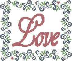 Counted Cross Stitch Pattern Love with by oneofakindbabydesign, $3.95 sayings