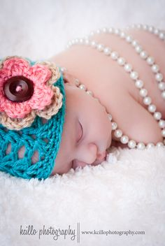Baby girl in pearls... www.facebook.com/kcillophotography