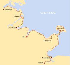 Ostseeküstenradweg: Radfahren an der Ostseeküste von Flensburg nach Lübeck