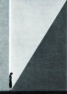 """Приближающаяся тень"". Гонконг, 1954 г. Фото: Хо Фань"