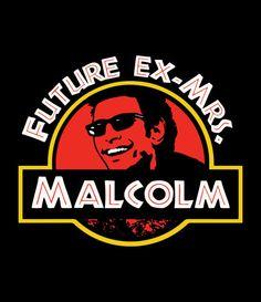 Jeff Goldblum Future Ex-Mrs Malcolm Tank Top Jurassic by Yipptee
