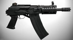Tromix Lead Delivery Systems' short barreled Saiga 12 gauge; combining Russia's Kalashnikov-style shotgun with HK sites and some Okie ingenuity. Tromix calls this their S-17.