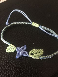 simple macrame  with flower and leaves