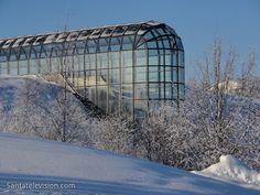 Photo: Arktikum is a Arctic Center in Rovaniemi in Lapland Finland. Arktikum museum and science center Trips To Lapland, Santa Claus Village, Arctic Circle, Holiday Travel, Beautiful Landscapes, The Good Place, Cool Pictures, Around The Worlds, Europe