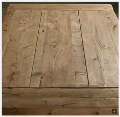 Rough farm table top with breadboard end