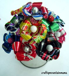 Upcycled Soda Can Bouquet Soup Can Full of by craftymountainmama, $18.00