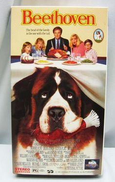 BEETHOVEN Movie VHS, 1992 Saint Bernard VIDEO Charles Grodin FREE SHIP 096898122238   eBay $6.99