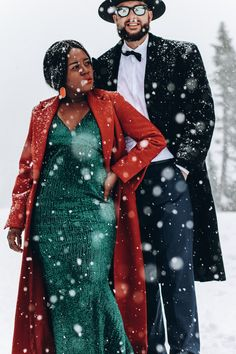 Christmas Couple, Christmas Pajamas, Holiday Photos, Christmas Photos, Save The Date Pictures, Family Pictures, Kendra Scott, Interracial Marriage, Green Gown