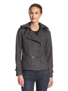 www.myhabit.com  Short peacoat with double-breasted button closure, wide notched lapel, epaulette detail and front pockets
