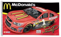 Jamie McMurray NASCAR #1 McDonald's Chevrolet SS Huge 3' x 5' Banner Flag - available at www.sportsposterwarehouse.com