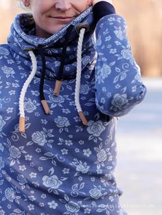 azul material de la vendimia / Lille Jacquard Wildrose: Emilea