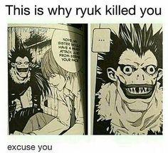 Ideas for funny anime memes otaku lol death note Death Note Quotes, Death Note Funny, Death Note デスノート, Funny Note, Death Note Light, Anime Meme, Manga Anime, Death Note Cosplay, Nate River