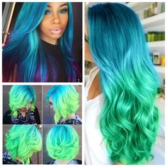 Sapphire Blue and Green
