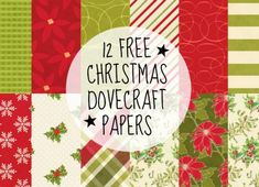 Free Christmas paper set from Dovecraft Christmas Scrapbook Paper, Papel Scrapbook, Printable Scrapbook Paper, Digital Scrapbook Paper, Christmas Paper, Printable Paper, Scrapbooking, Digital Papers, Christmas Ideas
