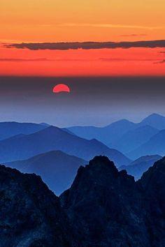 Over the Last Hill ... Sunset in Rysy, Slovakia | by Peter Kováč #LandscapePhotography