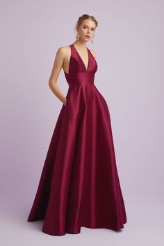 A-Line Formal Dress with Side Split Plunging V-neckline with flattering A-line silhouette and cross over straps at the back . Occasion Wear, Occasion Dresses, Designer Wedding Dresses, Bridal Dresses, Mother Of The Bride, Dress Making, Stylists, Bridesmaid, Formal Dresses