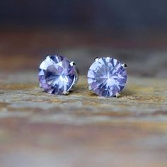 February Birthstone 8mm Amethyst Stud Earrings, Pink Amethyst Earrings, Amethyst Jewellery, Amethyst is the birthstone for February