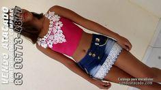 Nova Coleção de Short Saia Jeans Luxo. Compre pelo whatsapp: 85 98773-4877http://bit.ly/2faR3TA