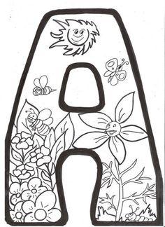 Letras Primavera Para Colorear Recursos escolares para