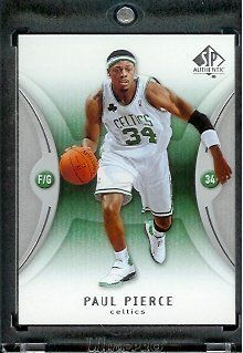2006 07 SP Authentic Paul Pierce Boston Celtics Basketball Card #4 - Mint Condition - In Protective Display Case by SP Authentic. $2.88. 2006 07 SP Authentic Paul Pierce Boston Celtics Basketball Card #4 - Mint Condition - In Protective Display Case