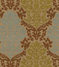 Waverly Upholstery Fabric-Romantic Rhyme/Chestnut