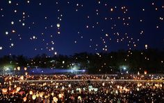 buddhists in daegu south korea release lanterns | ... Daegu, South Korea. South Korean President Park Geun-hye accepted her