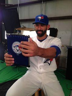 Jose Bautista taking a selfie! Toronto Blue Jays, Toys For Boys, Big Boys, Captain Hat, Take That, Daughter, Baseball Cards, Sports, Image