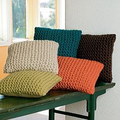 Chunky Knit Pillow Covers from The Company Store - I could probably make these on my own, but I love the colors and it's so easy just to buy them. Sigh.