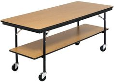Works as a utility table, buffet table, or bar table and has the option of adding a top shelf.