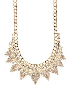 Golden Triangle Crystal Necklace
