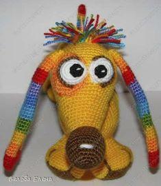 Ravelry: Rainbow dachshund pattern by Elena Belova - Белова Елена Cute Pattern, Crochet For Kids, Dachshund, Projects To Try, Crochet Hats, Rainbow, Dolls, Sewing, Knitting