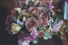 Dusky rose wedding bouquet by White & Winsome