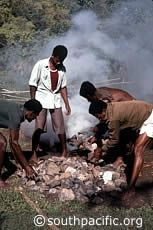 The Polynesians developed an ingenious way of cooking in an underground earth oven known as an umu, ahimaa, or lovo.