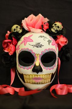 Little Lolita Day of the Dead Mask Pink and Black por HikariDesign