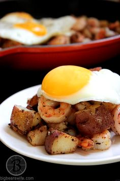 Red Potato and Shrimp Hash ~ Breakfast or Dinner? You decide!