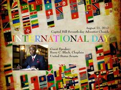 International Day 08.11.12. Guest speaker:  Dr. Barry Black, Chaplain US Senate. Special Music: ORIGEM (Brazilian Band) and Armand Davila (Steel Pan)