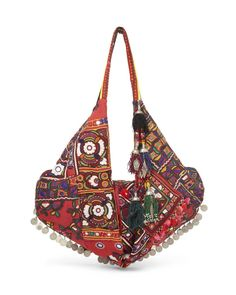 Embellished Fabric Moon Bag by Simone Camille £1372 at Couture Lab. Handcrafted in LA