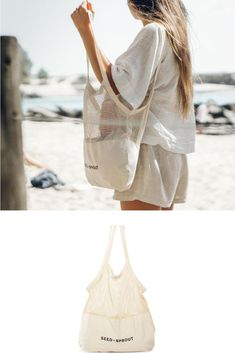 The organic cotton mesh shopping bag for produce is your essential plastic-free shopping bag. Beach Tote Bags, Canvas Tote Bags, Maila, Net Bag, Fair Trade Fashion, Cute Bags, Cotton Bag, Slow Fashion, Look Cool