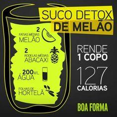 Suco Detox de Melão #boaforma