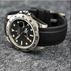 Discover our custom Rolex replacement bands and accessories. Our luxury curved end straps are crafted in Switzerland and designed to enhance the essence of your Dream Watches, Luxury Watches, Rolex Watches, Watches For Men, Vintage Military Watches, Rolex Explorer Ii, Rolex Tudor, Replacement Watch Bands, Hand Watch