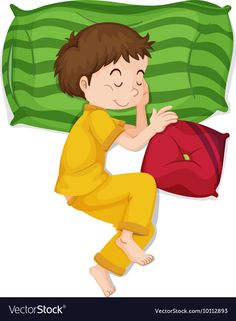 Little boy in yellow pj sleeping Royalty Free Vector Image Oral Motor Activities, English Activities, Activities For Kids, Clown Crafts, Sleeping Boy, Flashcards For Kids, First Birthday Photos, Kids Education, Kids Learning