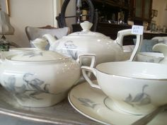 Fine Porcelain, Tea Pots, Antiques, Tableware, Vintage, Antiquities, Antique, Dinnerware, Dishes