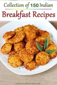 Breakfast recipes – Collection of 150 delicious traditional Indian breakfast recipes with step by step photos videos. Includes recipes from South Indian North Indian cuisines - Indian Breakfast Recipes Veg Breakfast Recipes Indian, Indian Veg Recipes, Breakfast Dishes, Healthy Breakfast Recipes, South Indian Snacks Recipes, Healthy Veg Recipes, South Indian Vegetarian Recipes, Sweet Breakfast, Dinner Healthy