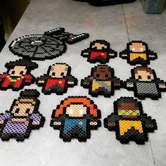 Star Trek TNG perler beads by thebatmanbear