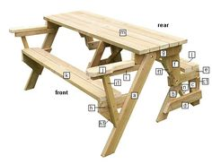 folding picnic table schematics                                                                                                                                                                                 Más