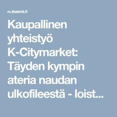 Kaupallinen yhteistyö K-Citymarket: Täyden kympin ateria naudan ulkofileestä - loistava resepti uudenvuodenjuhliin!